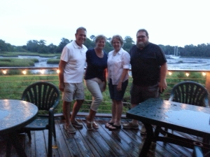 Good friends at Creekside restaurant