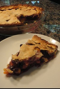 Monday's Blueberry Peach Pie adventure