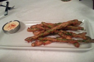 Fried Asparagus at Ritz Grill