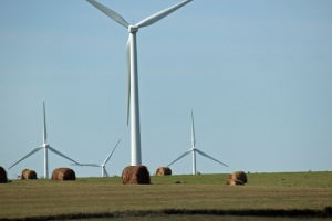 Wind farms in Kansas