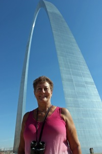 Jackie at the Arch
