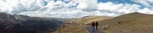 Alpine tundra Rockies panorama