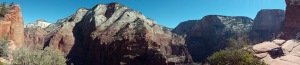 The view from Angel's Landing, 1500 feet up.