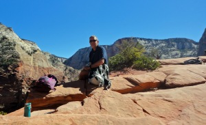Doug at Angel's Landing