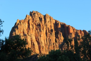 Watchman in the late evening sun