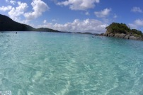 Amazingly clear water at Trunk Bay, St. John