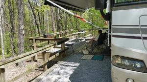 Benji loves camping