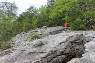 Rock outcrop at the rim
