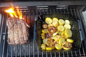 Ribeye and roasted squash