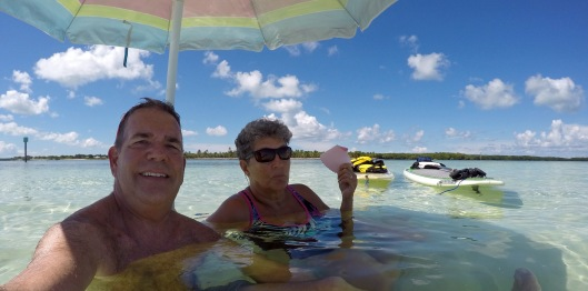 Relaxing on the sandbar, Curry Hammock