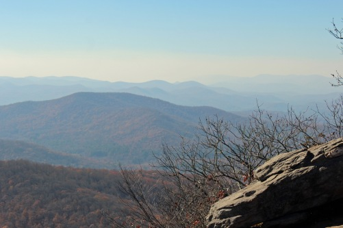 View west from Blood Mountain