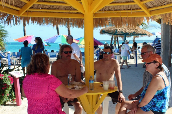 Tiki hut meeting