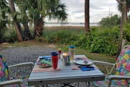 Dinner for two at the next campsite
