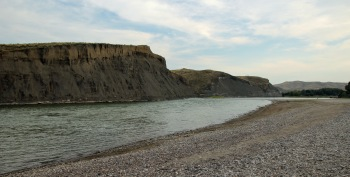 The camp sat along the Yellowstone River... how cool.