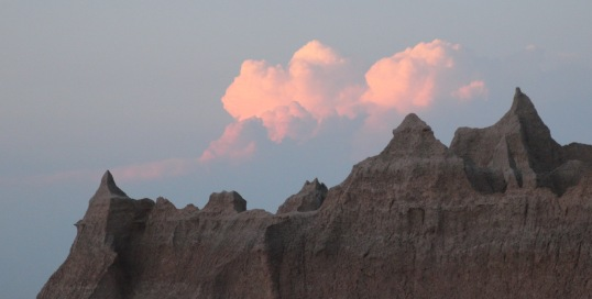 Sunset over Badlands