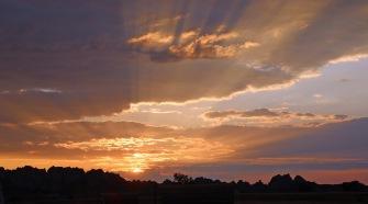 Sunrise over Bandlands