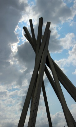 Rest stop tipi sculpture