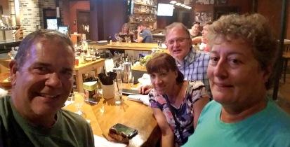 Dan, Terri, Jackie and I at Craft Bar in Grayton Beach