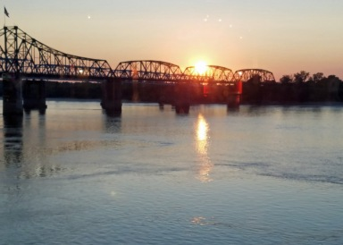 Sunset over Mississippi