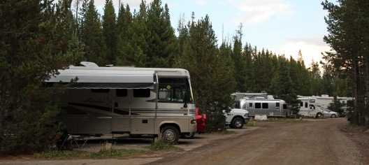 Yellowstone campsite