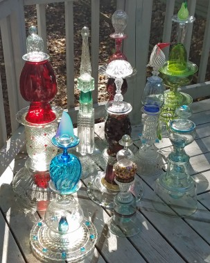 Glass totems