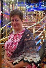 Jackie was proud of the shawl she had crocheted - and it was needed.