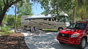 Campsite at Hilton Head Marina RV
