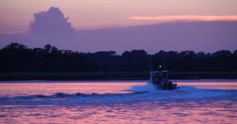 HHRV sunset boat