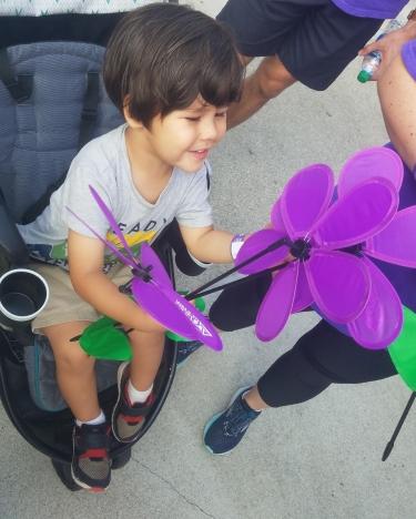 Wyatt with flowers