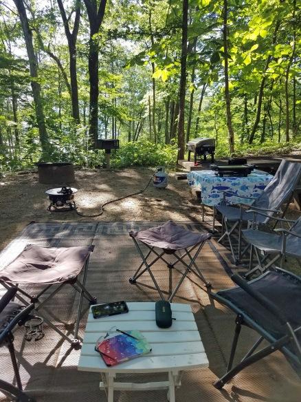 Smith Lake campsite